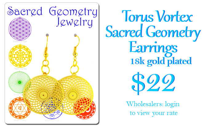 torus vortex sacred geometry earrings