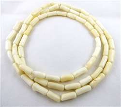 "NE-01 - 29 INCH TUBE SHAPED ""BAMBOO"" WHITE CORAL NECKLACE"