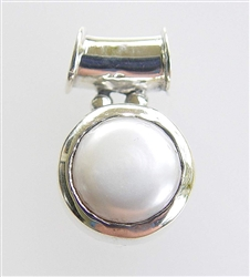 SCP-02 BEAUTIFUL WHITE PEARL PENDANT IN STERLING SILVER