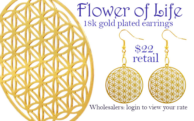 flower of life sacred geometry earrings