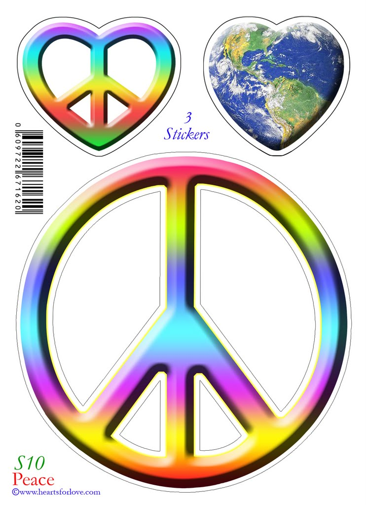 Sticky Back Stickers With Spiritual Oriented Images From Hearts For Love