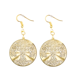Er 26 Pk Tree Of Life Earrings Gold Plated